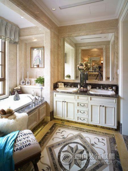 420平欧式豪华别墅-卫生间装修图片