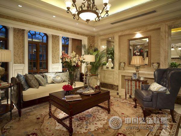 420平欧式豪华别墅-客厅装修图片