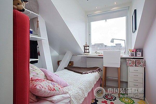 装修效果图 简约装修效果图 小户型卧室设计四  类型:家装 风格:简约