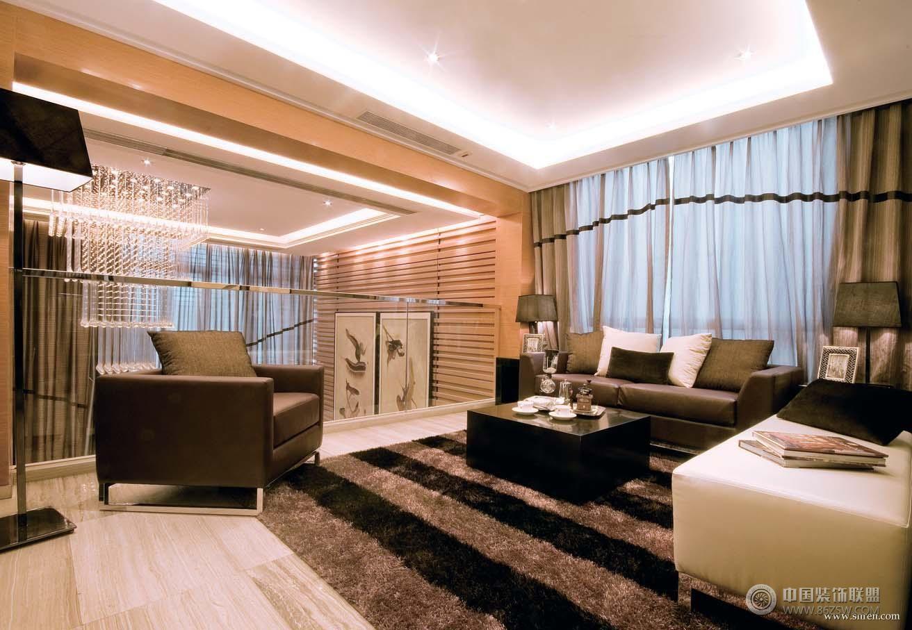 港式风格别墅混搭客厅装修图片