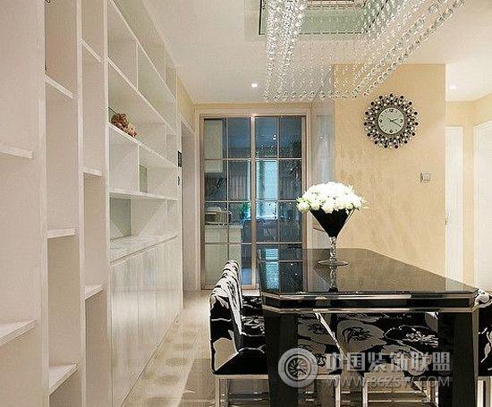 10万装修110平米现代简约家居 餐厅装修效果图 八六装饰网