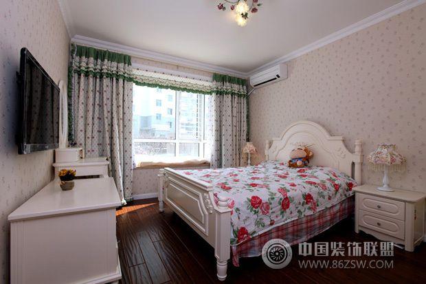 95平米唯美田园-卧室装修图片