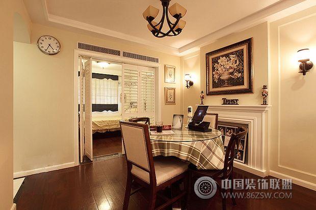 90平米美式乡村婚房整套大图展示_美式小户型装修效果