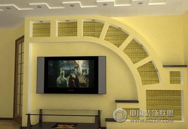 家居拱形壁龛设计-客厅装修图片