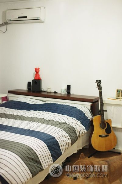 50平米温馨一居 卧室装修图片