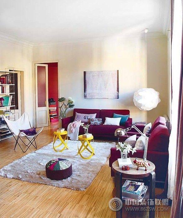 90平米时尚小公寓客厅装修图片