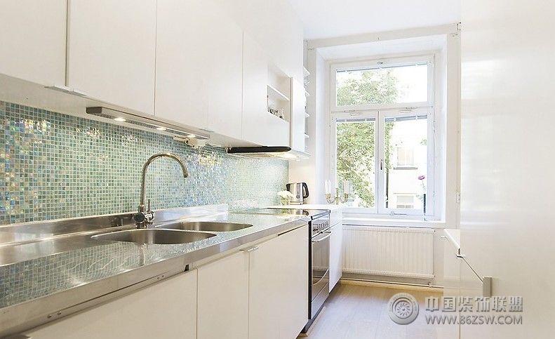 北欧复式小公寓 厨房装修效果图 八六装饰网装修效果图库