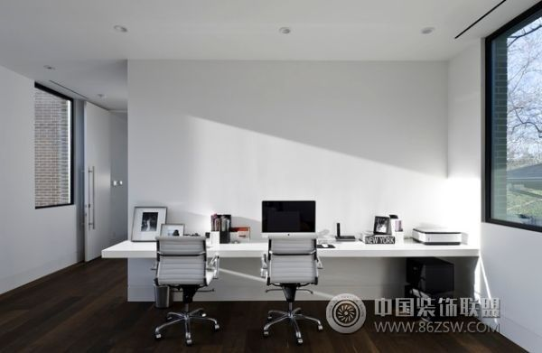家庭工作室设计-书房装修效果图-八六(中国)装饰联盟