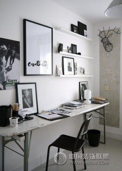 家庭工作室设计二-书房装修效果图-八六(中国)装饰