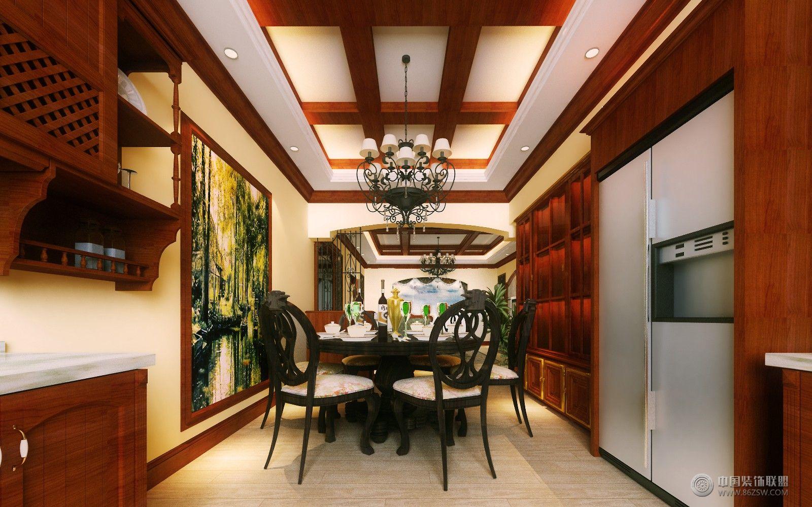 美式风格现代餐厅装修图片