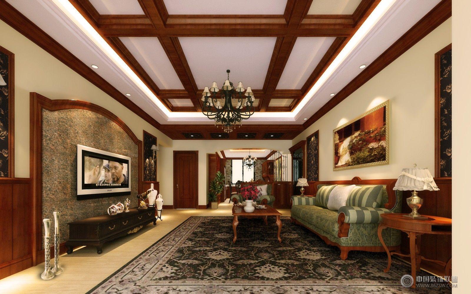美式风格现代客厅装修图片