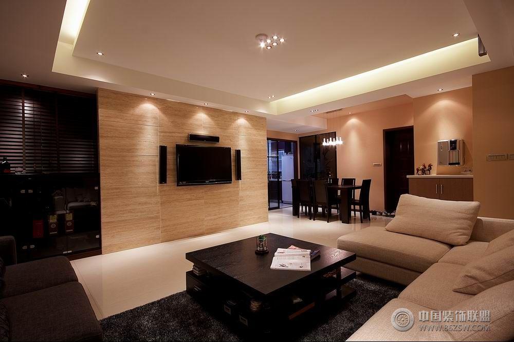 120平米现代温馨婚房-客厅装修图片