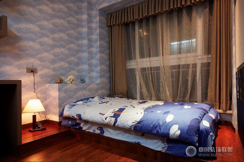 120平米现代温馨婚房-卧室装修图片