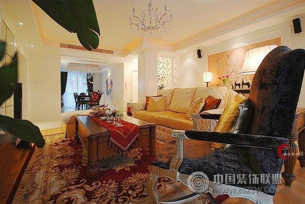 12万装修81平超豪华婚房欧式客厅装修图片