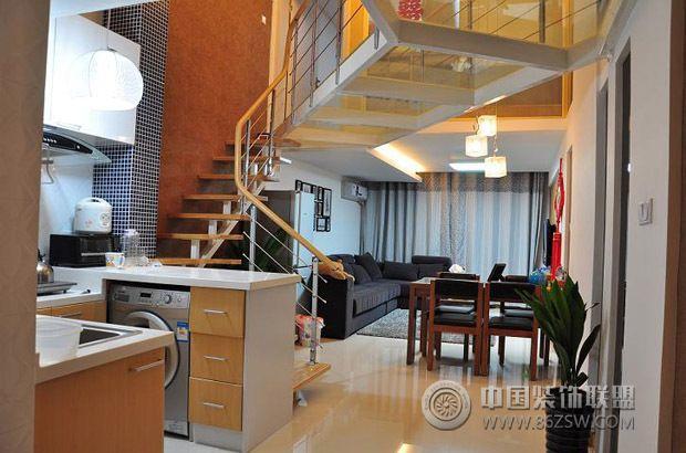 50平米loft精致小户型装修 过道装修效果图 八六装饰