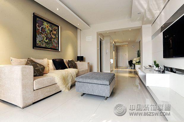 115平米现代简约清新居现代简约客厅装修图片
