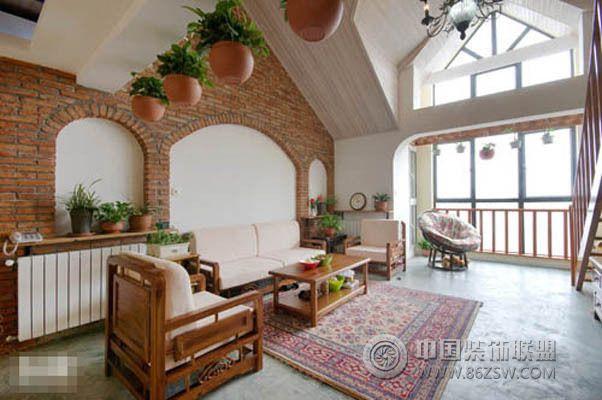 125平美式鄉村風格美式風格客廳裝修效果圖