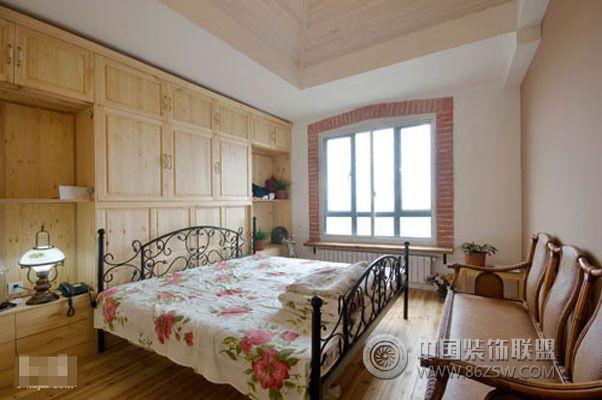 125平美式鄉村風格美式風格臥室裝修效果圖