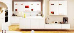 简约白色厨房设计