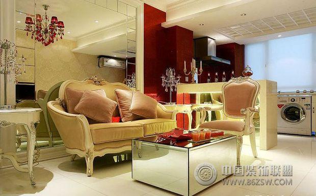 50平古典奢華復式公寓古典客廳裝修圖片