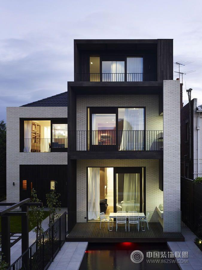 别墅室内设计欣赏 现代风格装修效果图 八六装饰网