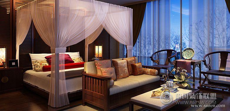 中式禅意别墅样板房 卧室 装修 效果图 八六 中国 装饰