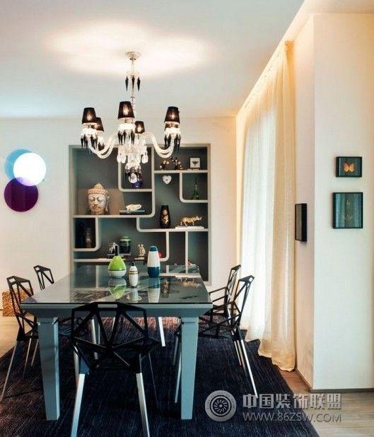 90平米个性公寓设计 阳台装修效果图