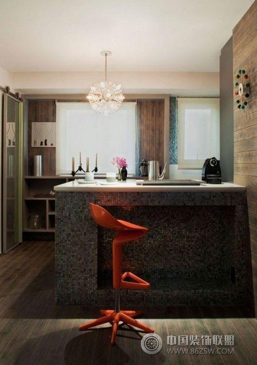 90平米个性公寓设计-厨房装修效果图-八六(中国)装饰