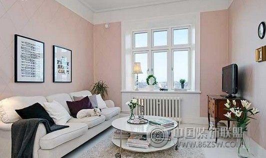 52平米清新情侣公寓简约客厅装修图片