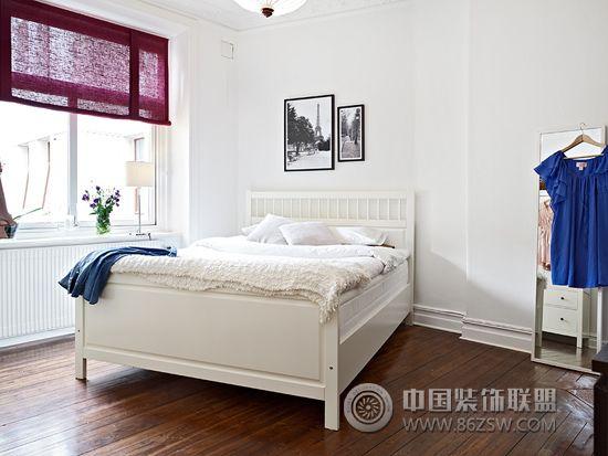 北欧风格卧室设计二_简约装修效果图_八六(中国)装饰图片