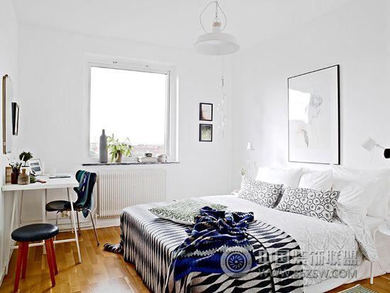 北欧风格卧室设计二 书房装修效果图 -北欧风格卧室设计二 书房装修图