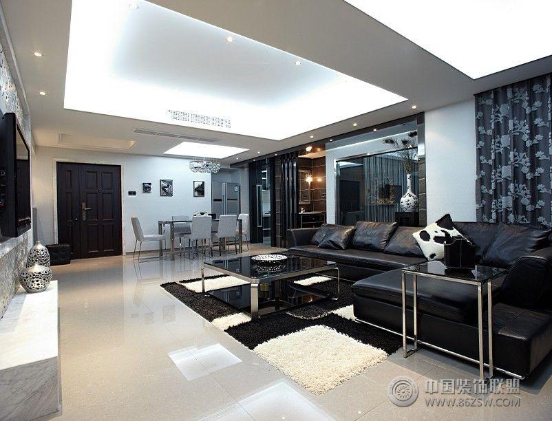 北京青年120平米现代婚房-客厅装修效果图-八六(中国)