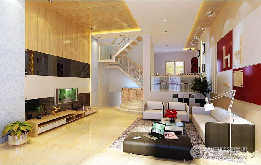 复式楼装修设计-客厅装修效果图-八六(中国)装饰联盟图片