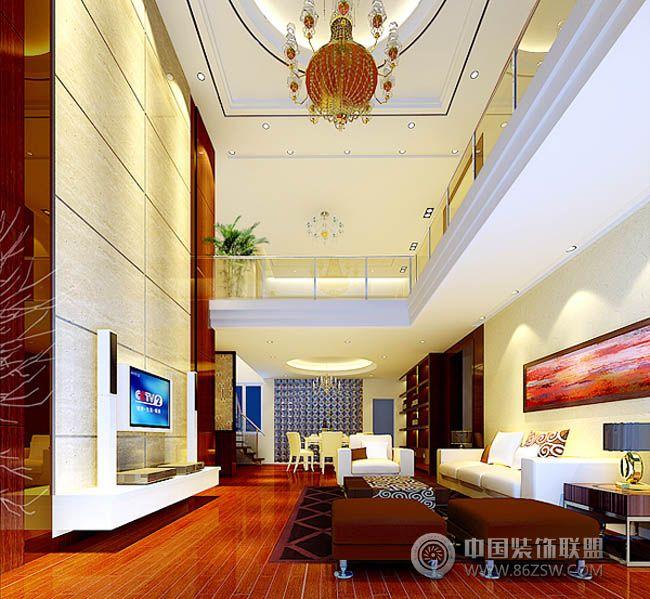 复式楼装修设计二_现代复式装修效果图_八六(中国)(86图片