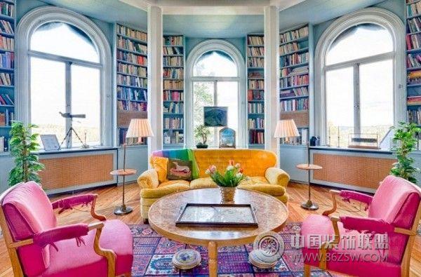450平米彩色湖景别墅欧式客厅装修图片