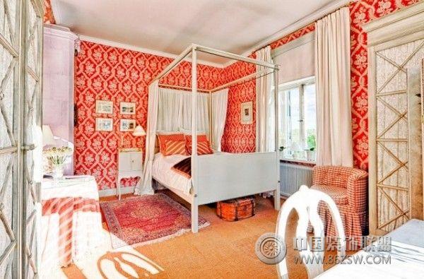 450平米彩色湖景别墅欧式卧室装修图片