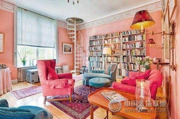 450平米彩色湖景别墅欧式书房装修图片