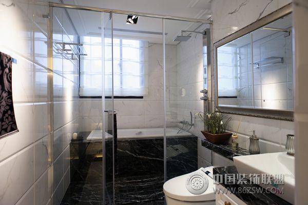 155平米极品简约豪华范 卫生间装修效果图 八六装饰网装修效果图库
