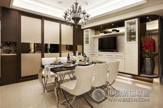轻古典风格大户型 厨房装修效果图