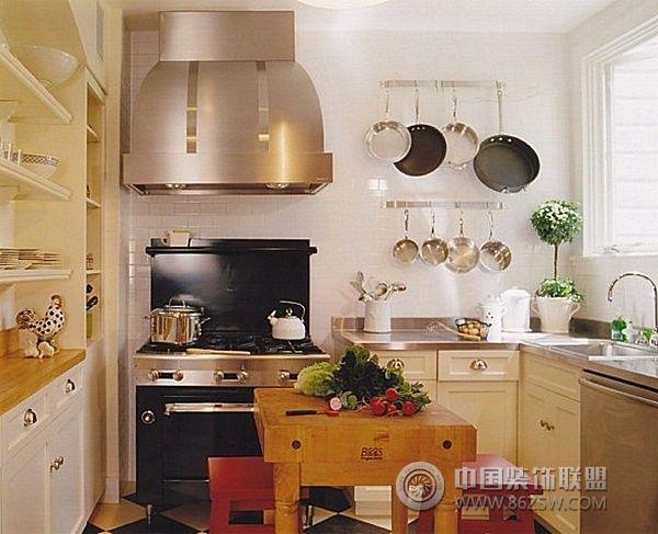 小户型开放式厨房 客厅装修图片