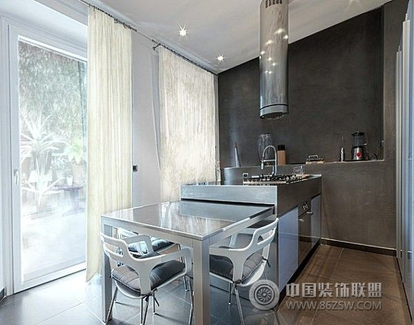 小户型开放式厨房二 客厅装修效果图