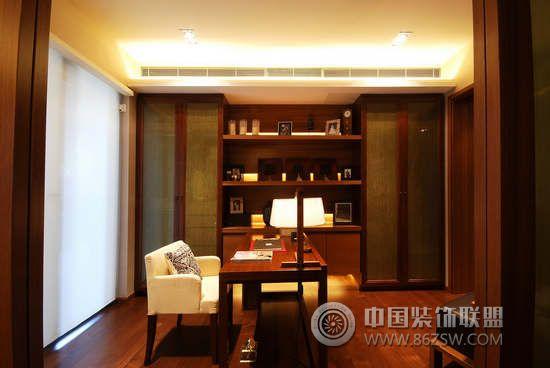 120平米原木风情雅居-书房装修图片