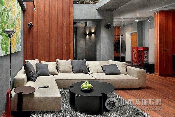120平米简约双卧室公寓书房装修图片