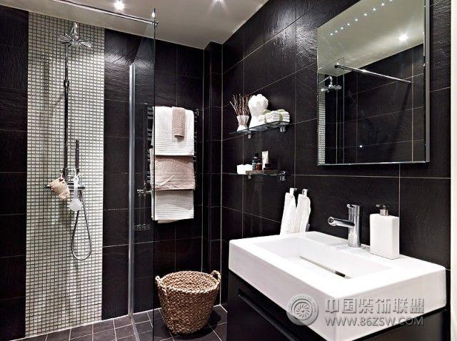 61平米现代黑白公寓_现代公寓装修效果图