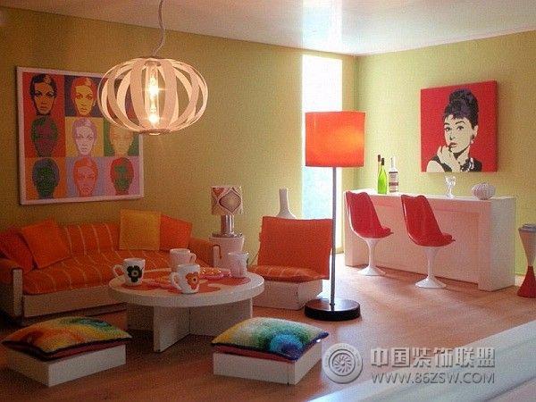 家居色彩搭配二-客厅装修图片