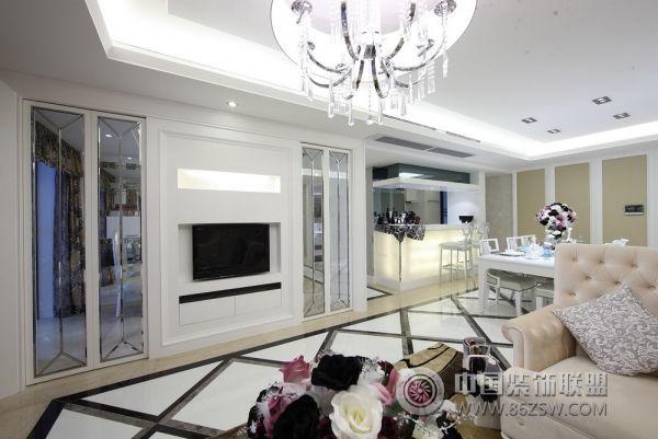 156平现代简欧奢华居 客厅装修效果图