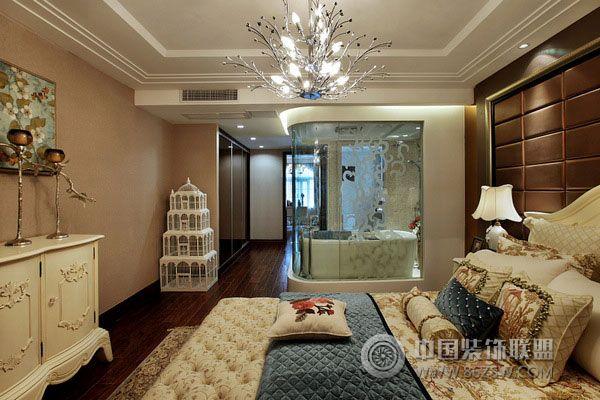 万科简欧样板房欧式卧室装修图片