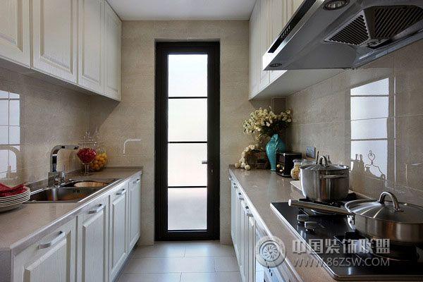 万科简欧样板房-厨房装修图片图片