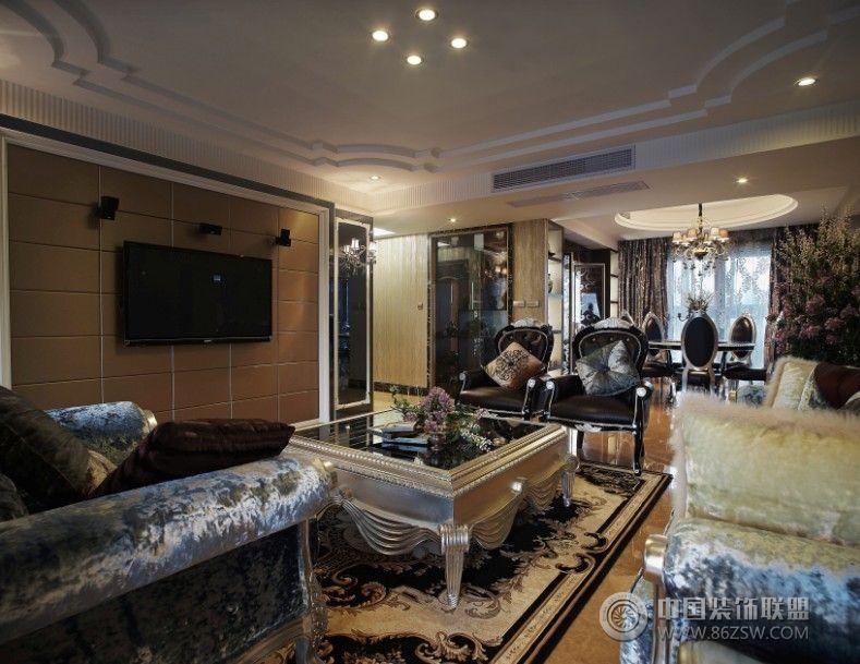 160平欧式风情豪宅-客厅装修图片图片