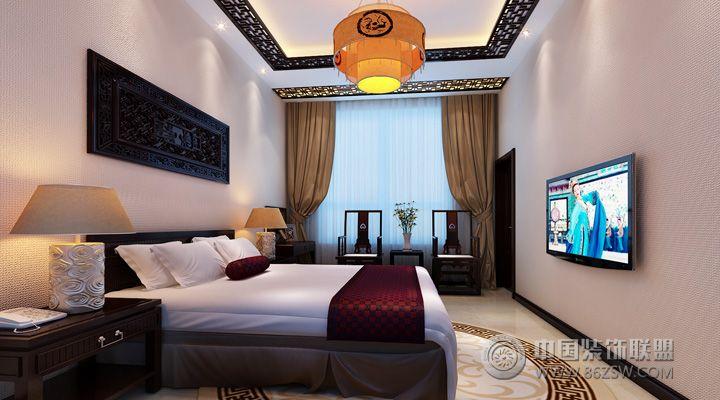 400平中式简约别墅 卧室装修效果图 八六装饰网装修